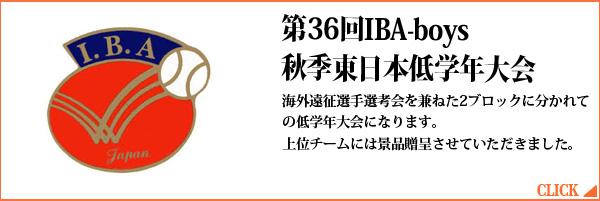 第36回IBA-boys 秋季東日本低学年大会