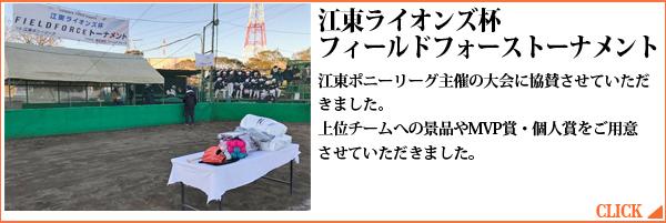 江東ライオンズ杯フィールドフォーストーナメント