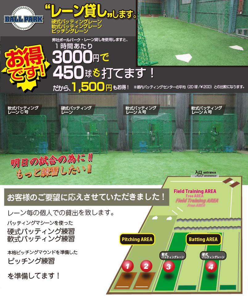 野球トレーニング  BALLPARK いつでも気軽に省スペースで最大限の練習効果を!
