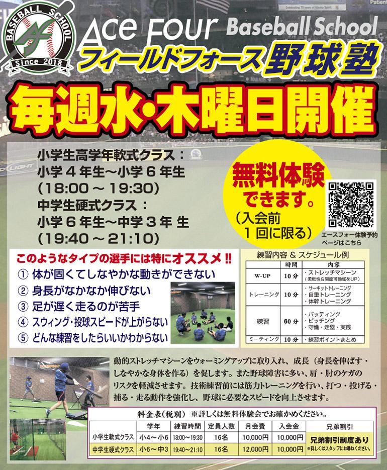 エースフォー野球塾